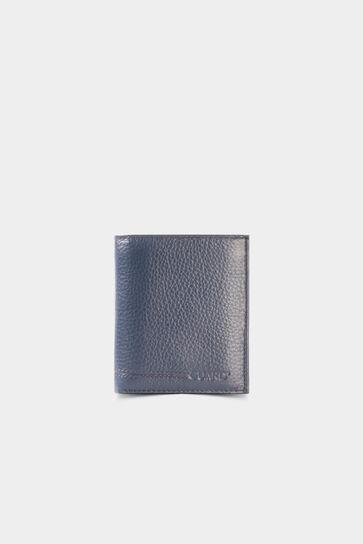 Bozuk Para Girişli Lacivert Deri Erkek Cüzdanı - Thumbnail