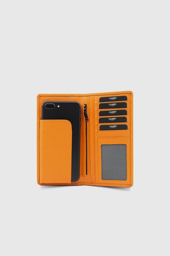 Guard - Guard Chelsea Turuncu Çuval Baskılı Telefon Bölmeli Deri El Portföy (1)