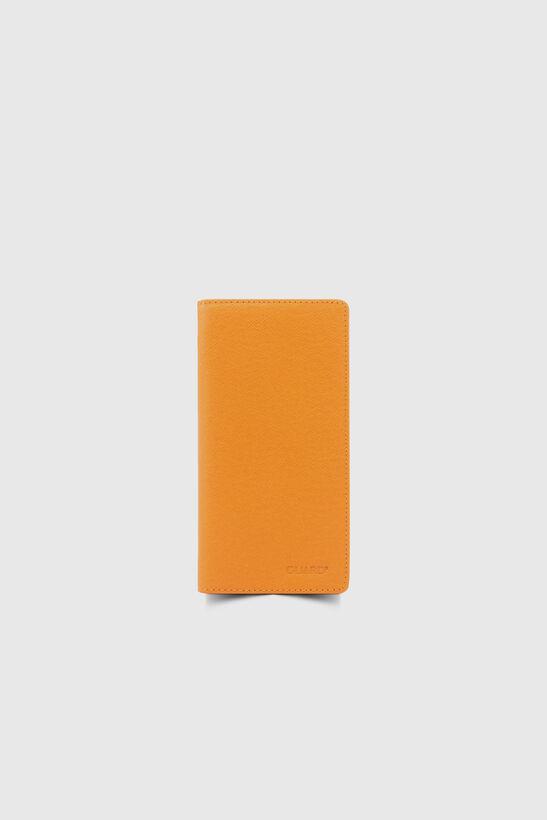 Guard - Chelsea Turuncu Çuval Baskılı Telefon Bölmeli Deri El Portföy