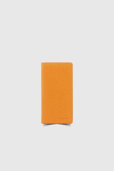 Chelsea Turuncu Çuval Baskılı Telefon Bölmeli Deri El Portföy - Thumbnail