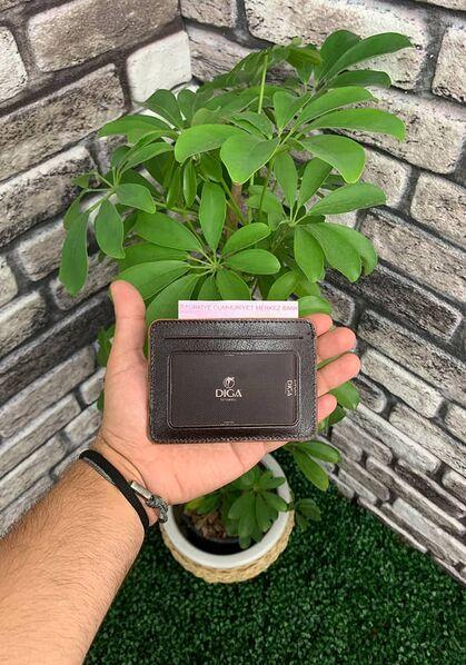 Diga Kahverengii Yatay Deri Kartlık / Kartvizitlik - Thumbnail
