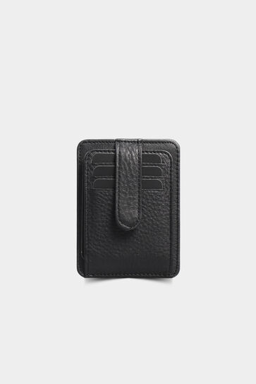 Dikey Mat Siyah Deri Kartlık - Thumbnail