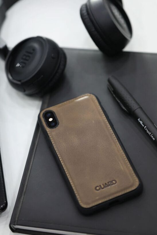 Guard - Guard Antik Deri Kahverengi iPhone XS Max Telefon Kılıfı