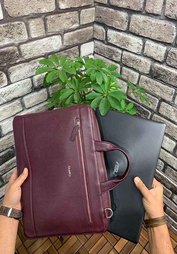 Guard Bordo Deri Özel Üretim Laptop ve Evrak Çantası