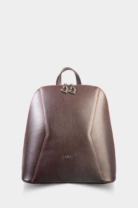 Guard - Kahverengi Deri Compact Bayan Sırt Çantası