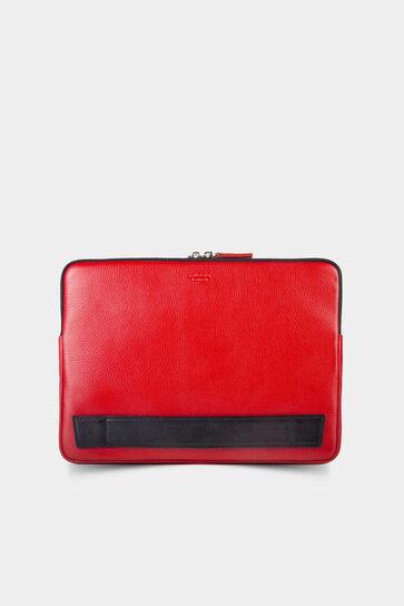 Kırmızı Deri Clutch Çanta - Thumbnail