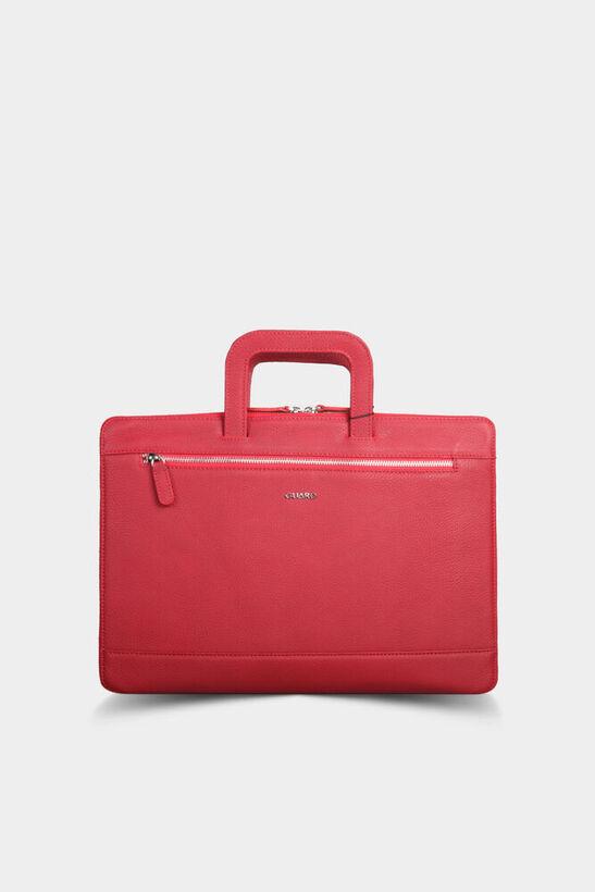 Guard - Kırmızı Deri Evrak ve Laptop Çantası