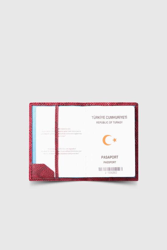 Guard - Guard Kırmızı Piton Baskı Pasaport Kılıfı (1)