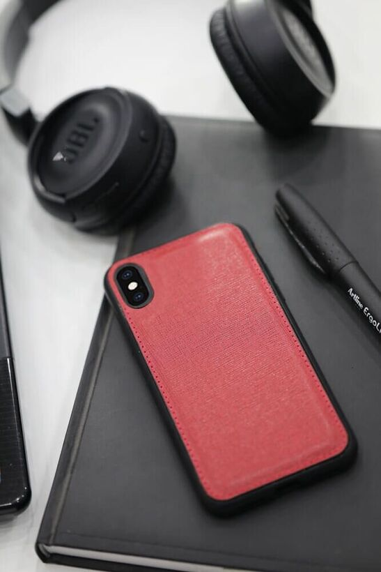 Guard - Guard Kırmızı Saffiano Deri iPhone X / XS Kılıfı