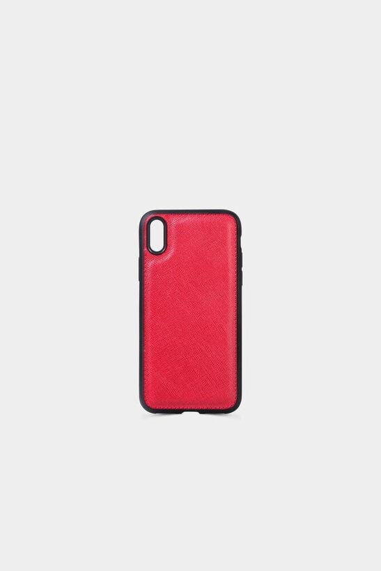 Guard - Kırmızı Saffiano Deri iPhone X Kılıfı
