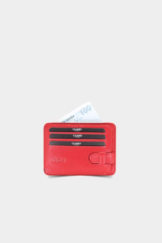 Diga - Kırmızı Yatay Deri Kartlık / Kartvizitlik
