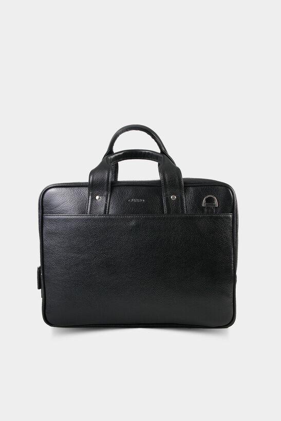 Guard - Laptop Girişli Siyah Deri Evrak Çantası