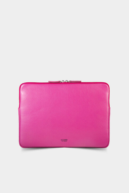 Guard - Pembe Deri Clutch Çanta