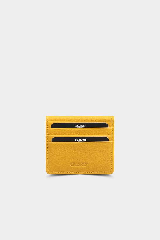 Guard - Sarı Patlı Tasarım Deri Kartlık