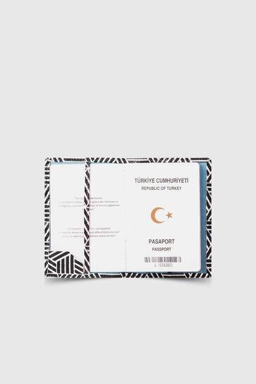 Guard - Guard Siyah Beyaz Motifli Pasaport Kılıfı (1)