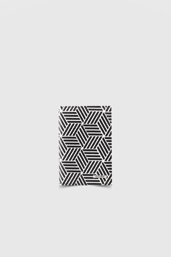 Guard - Siyah Beyaz Motifli Pasaport Kılıfı