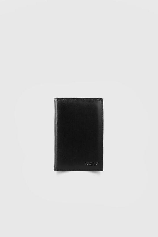 Guard - Siyah Dikiş Detaylı Pasaport Kılıfı