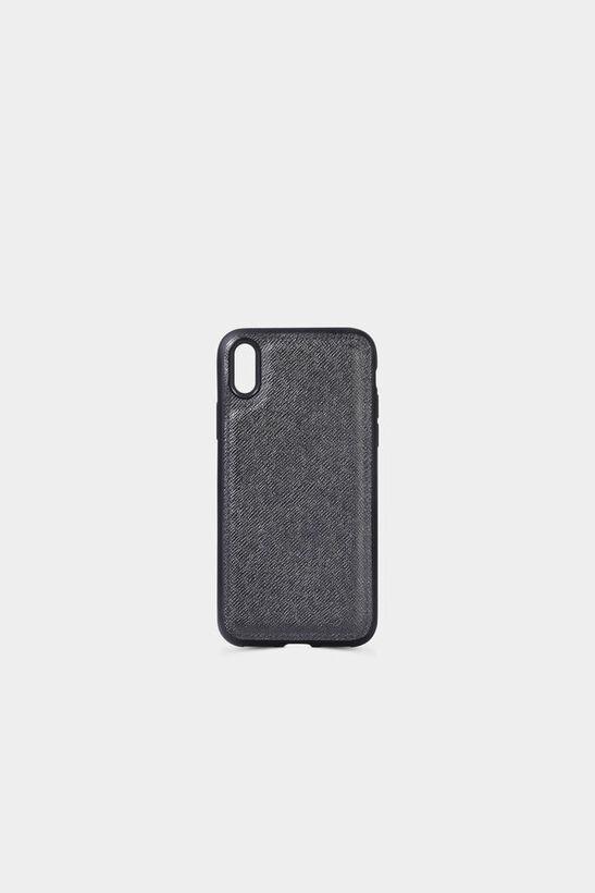Guard - Siyah Saffiano Deri iPhone X Kılıfı