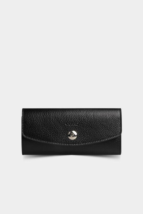 Guard - Telefon Girişli Siyah Deri Kadın Cüzdanı
