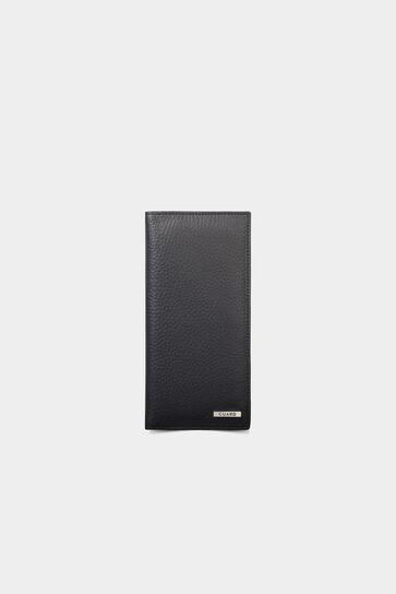 Unisex Siyah Deri Cüzdan 3024 - Thumbnail