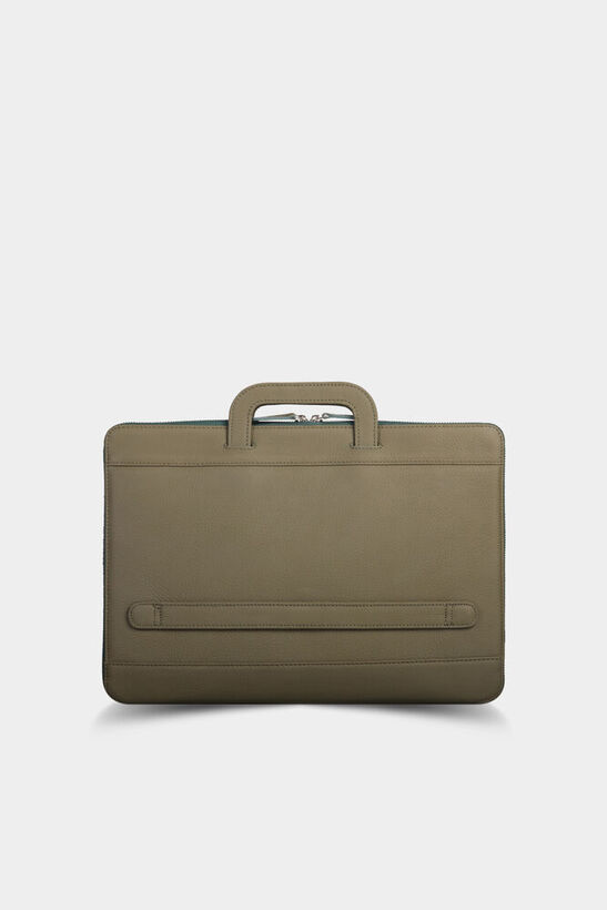 Guard - Guard Haki Yeşil Deri Evrak ve Laptop Çantası (1)