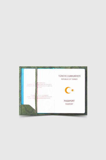 Guard - Guard Yeşil Piton Baskı Pasaport Kılıfı (1)